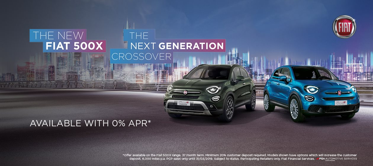 The New Fiat 500X available with 0% APR*