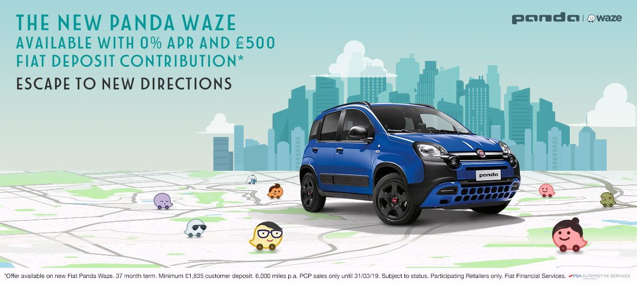 /fiat/contact-us/?Enquiry_Type=New Car Enquiry&Offer=The New Panda Waze available with 0% APR and £500 Fiat Deposit Contribution*