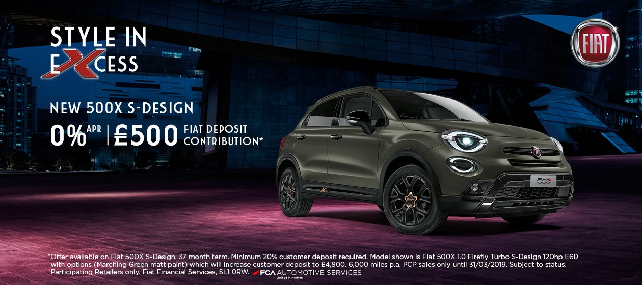 The New 500X S-Design at Vale Motors