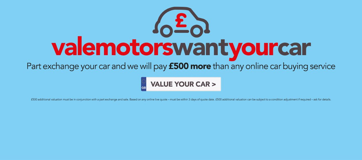 Vale Motors want your car!