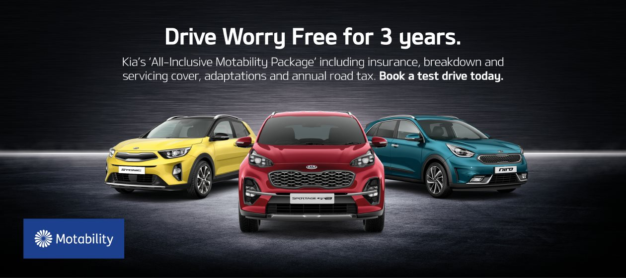 Drive worry free for three years with Kia Motability