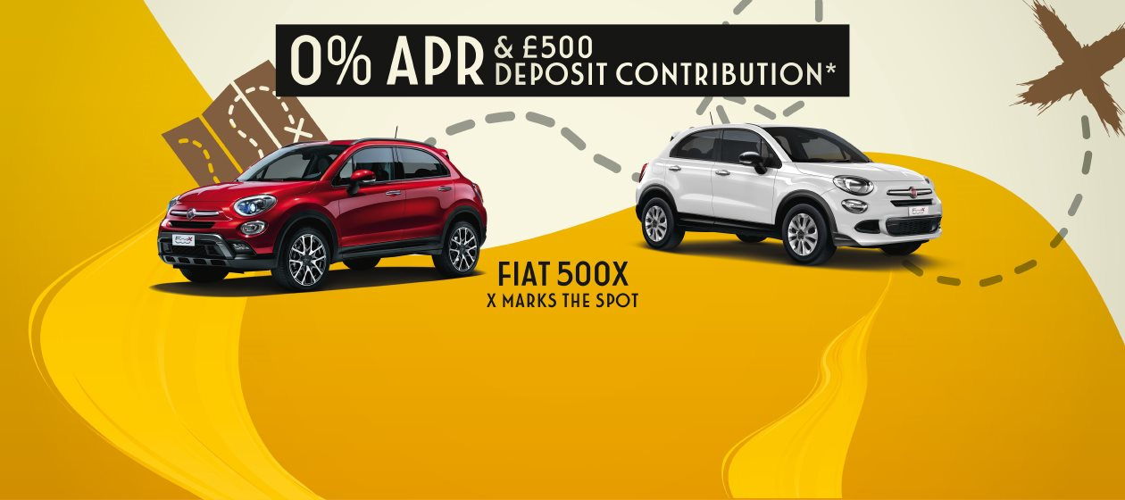 FIAT 500X AND 500X S-DESIGN SPECIAL OFFERS