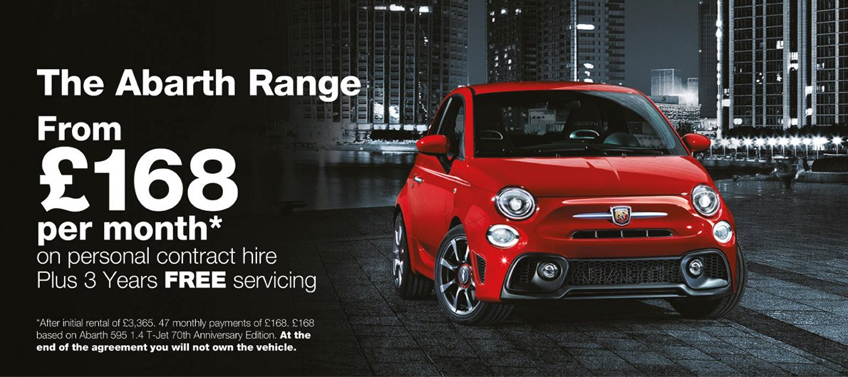 Exclusive Abarth Offers From £168 per month
