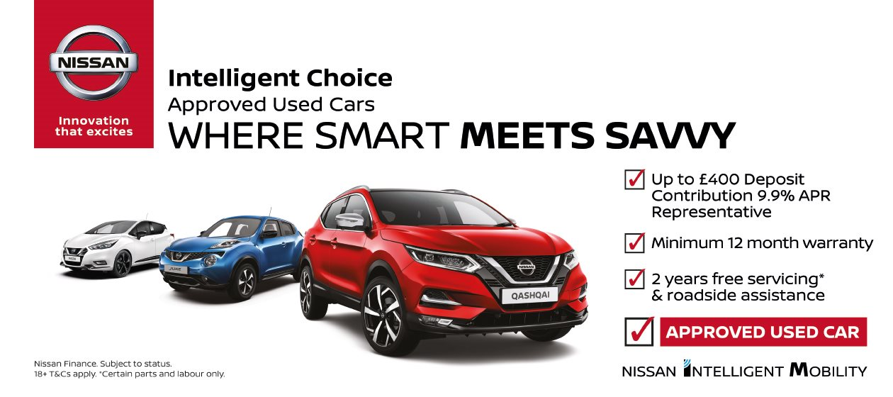 Your first choice for approved used Nissan cars