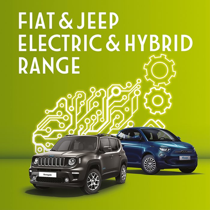 New Fiat & Jeep electric and hybrid cars