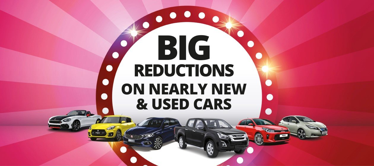 Big reductions on Suzuki nearly new and used cars