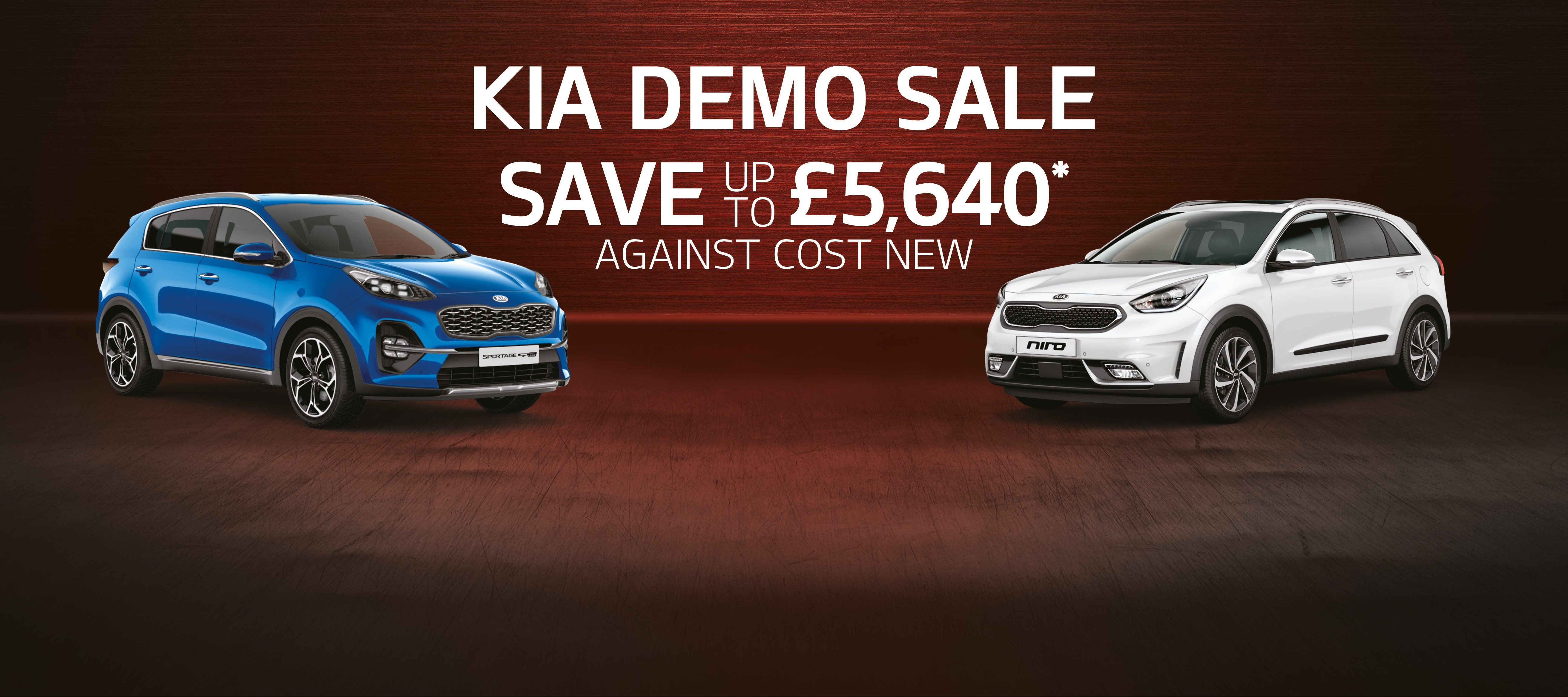 KIA DEMO MODELS WITH HUGE SAVINGS AGAINST COST NEW