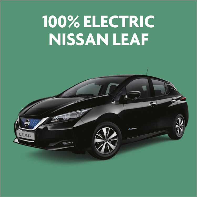 100% electric Nissan LEAF