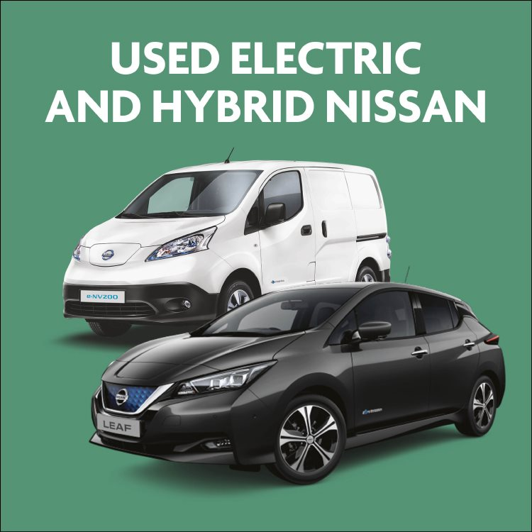 Used Nissan electric and hybrid cars