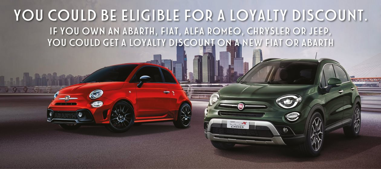 Exclusive Loyalty Bonus for existing FCA Group driver/owners