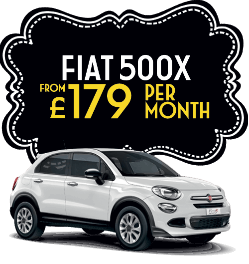 Fiat 500x from £179 per month
