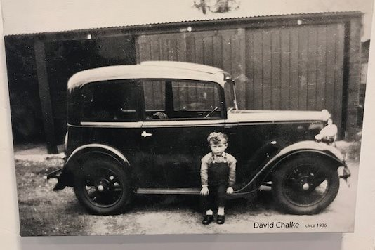 David Chalke pictured with Austin 7